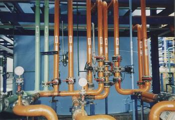 大發物化處理廠製程管線配裝圖